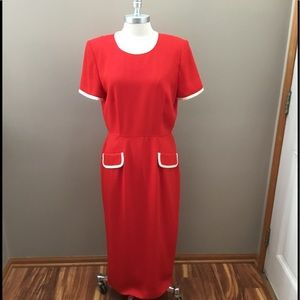 Vintage Maggy London Red Maxi Dress